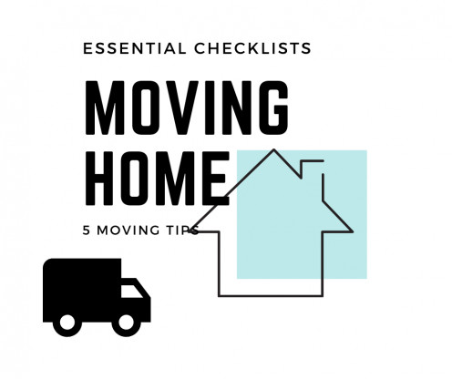 List of essential things that you need for moving into your new home.