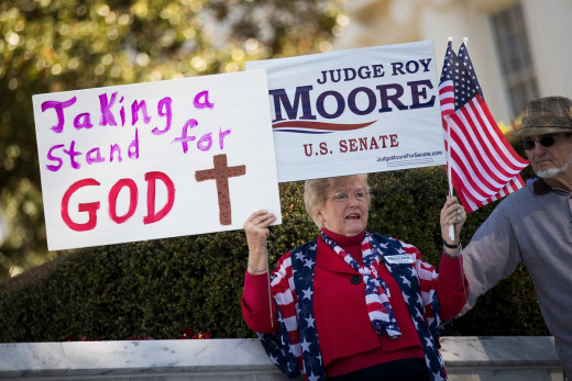 An evangelical voter continues to show support for Roy Moore simply for claiming Christian values, despite the charges of pedophilia, rape, and embezzlement he was investigated for while running for Senate.