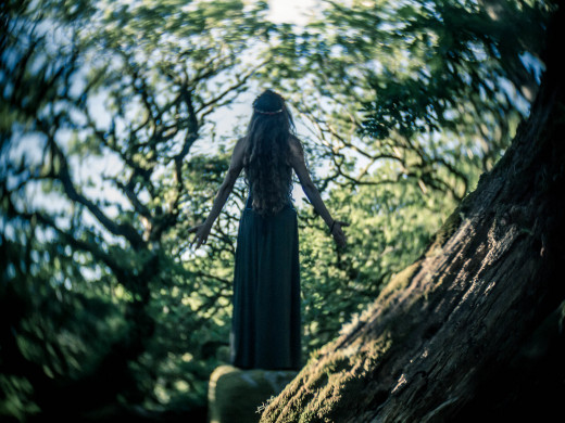 Fae - Shot in Wistmans Wood on Dartmoor. The distortion of the lens only adds to the magical feel of the image