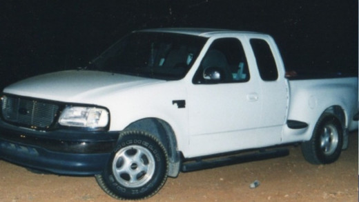 Lisa's Gurrieri's mother's F-150 pickup truck where Lisa and Brandon Rumbaugh were found murdered.