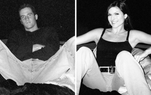 Two photographs of the last time Lisa Gurrieri and Brandon Rumbaugh were alive and taken on the disposable camera found at the crime scene.