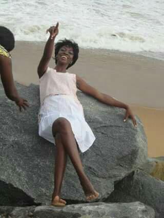 Miss Tola Ogundare, at beach