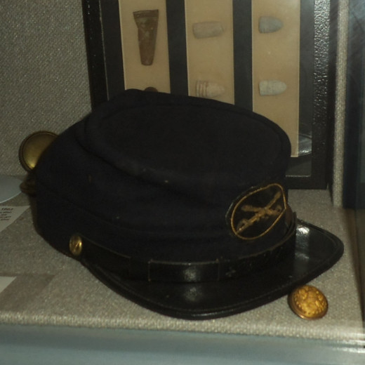 Union cap and button