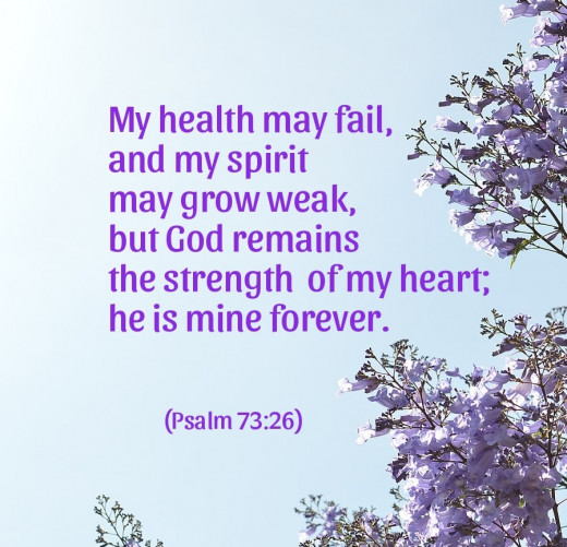 God remains the strength  of my heart; he is mine forever.