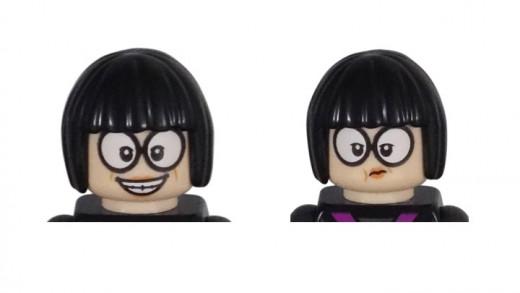 LEGO Edna Mode Minifigure 30615 Head Piece