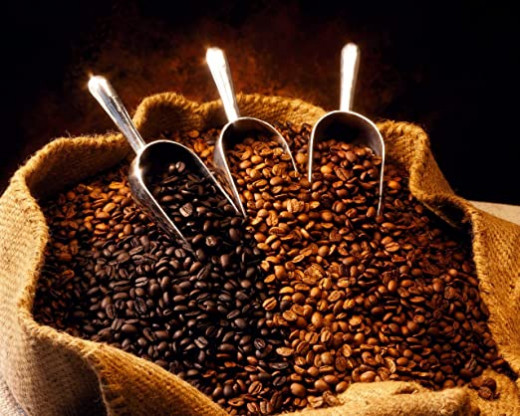 Coffee beans come from many places around the world.