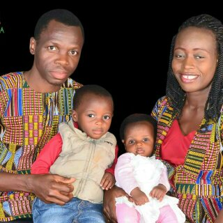 Dr. and Dr. (Mrs) Adaramoye and children representing early marriage