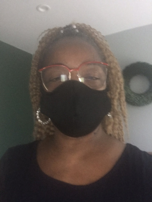 A black mask that l ordered from a website is very effective. I did the test of holding it up to the sunlight. I couldn't see the light so l feel protected somehow when l wear a mask.