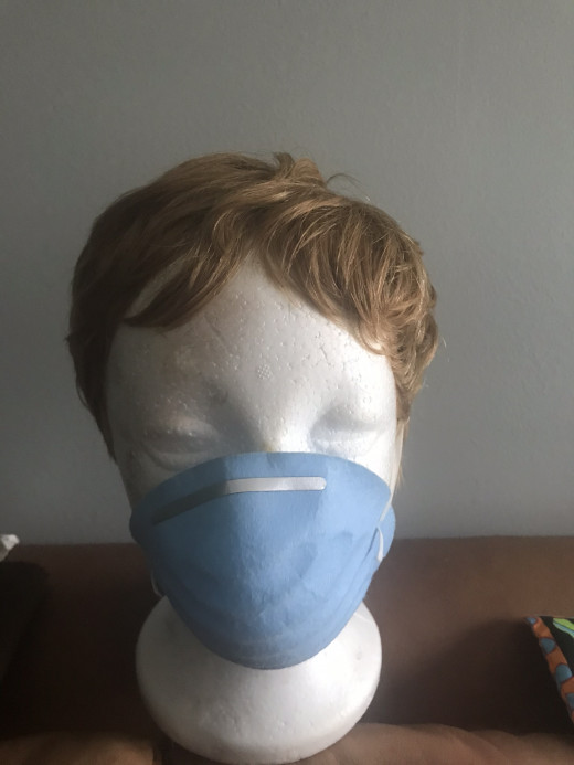 This disposable face mask serves the purpose when l am in public.