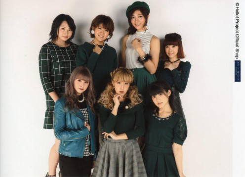 A photo of the group Berryz Kobo sometimes spelled as Berryz Koubou. Momoko Tsugunaga who retired from the entertainment industry is on the far right of the picture.