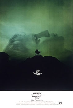 The theatrical release poster for the film, Rosemary's Baby.
