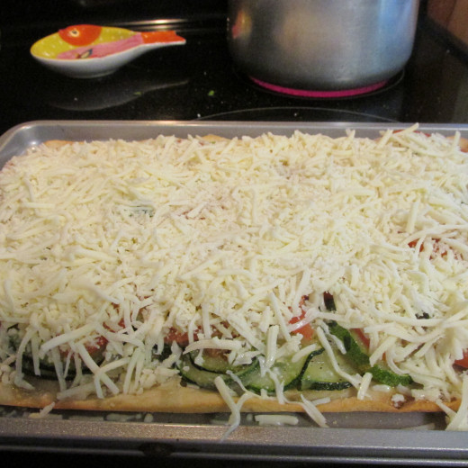 3rd layer with cheese