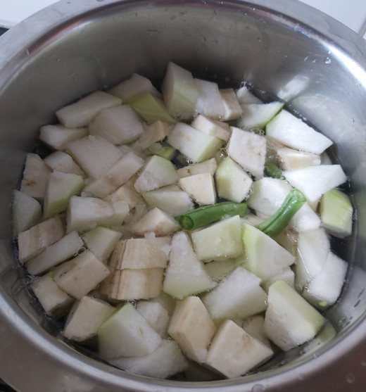 Add 1-1.5 cups of water or water enough to cover the vegetables. Add salt to taste. Cook vegetables in medium flame. Check in between if the vegetables are cooked.