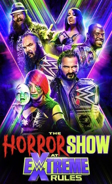 The promotional poster for WWE's annual PPV for 2020, Extreme Rules.