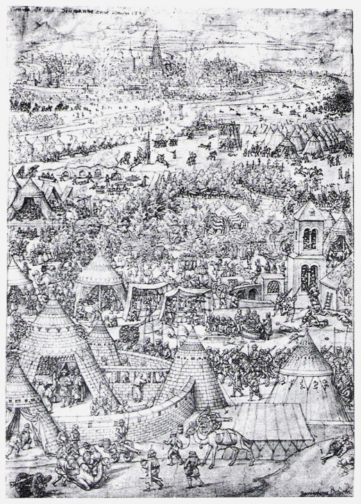 The Siege of Vienna in 1529, where the defeat of the Ottomans saved the Hapsburg bastion of power in Central Europe