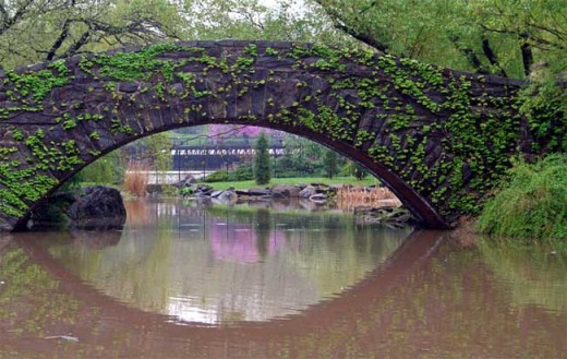 The Gapstow Bridge in Central Park