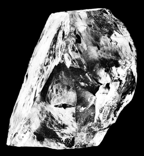 This is a rough or raw diamond.