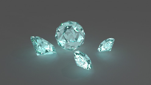 Diamonds undergo much pressure and cutting to become a beautiful jewel as well as one of the hardest surfaces in the world.