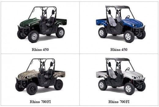 The Yamaha Rhino is offered in no fewer than 3 engine configurations, starting with 450cc & maxing out @ 700cc from the factory!