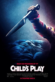 The theatrical release and promotional poster for the horror remake of Child's Play.