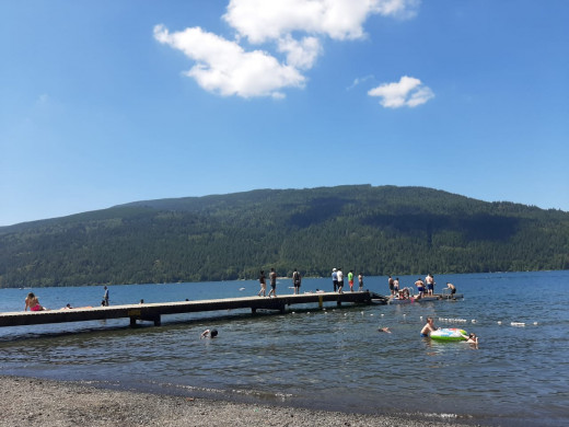 Cultus Lake is a popular summer day trip destination for families and friends alike