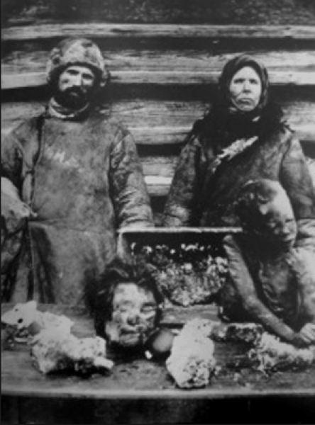 The great revelation of the book is that Danilov's parents were deported to Nazino island, famed for its breakdown in society and horror as part of the gulag system which led to cannibalism and mass murder