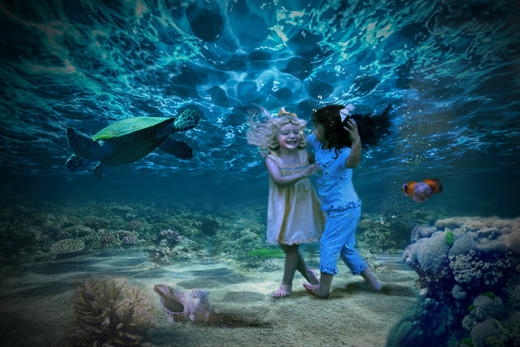 My digital image photo composite of Water Pixie friends.