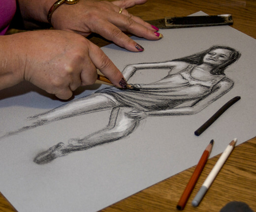 My 20 minute sketch from a live model
