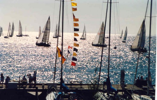 CSYC Regatta Start, Lake St. Clair