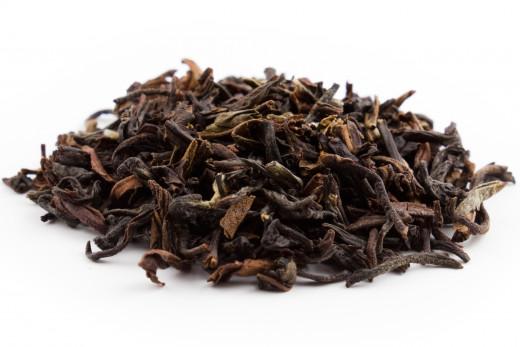 Darjeeling black tea dry leaves