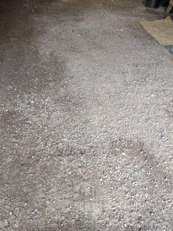 Cleaning a Dirt Floor