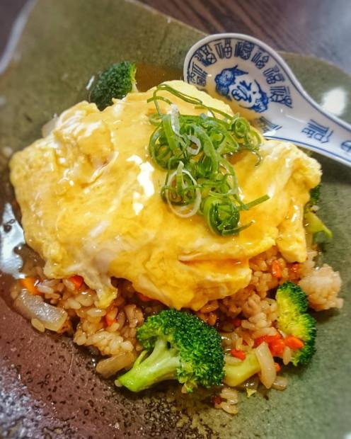 Scrambled on rice