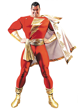 Comic Book version of Billy as Shazam!
