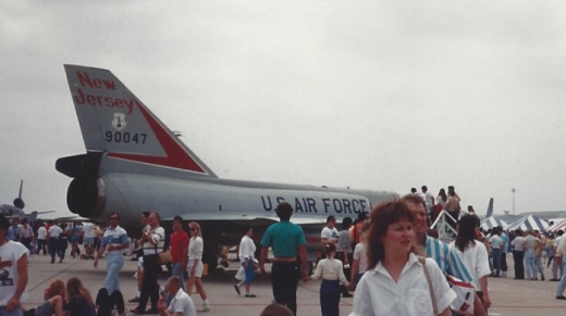An F-106 of the New Jersey Air National Guard, Andrews AFB, circa 1985.