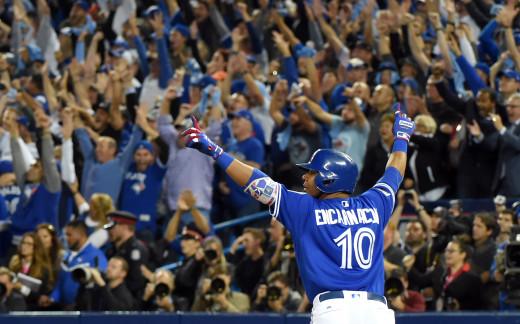 Edwin Encarnacion hits a home run.