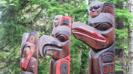 Authentic Totem Poles