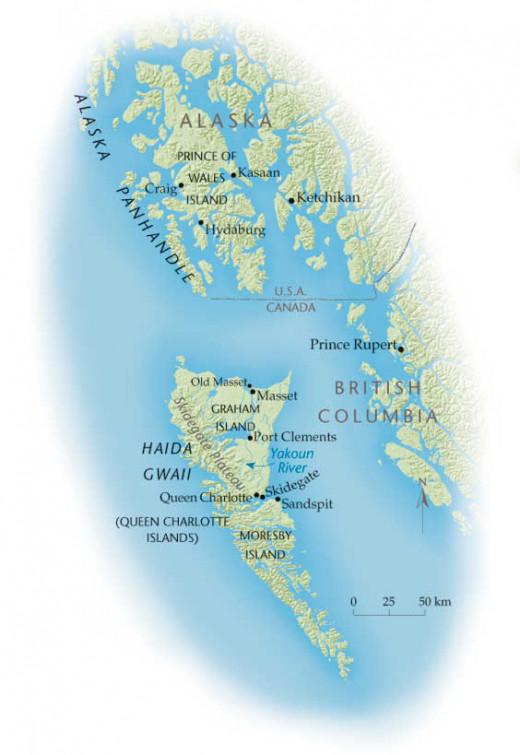 Haida, Formerly Quen Charlottes Islands
