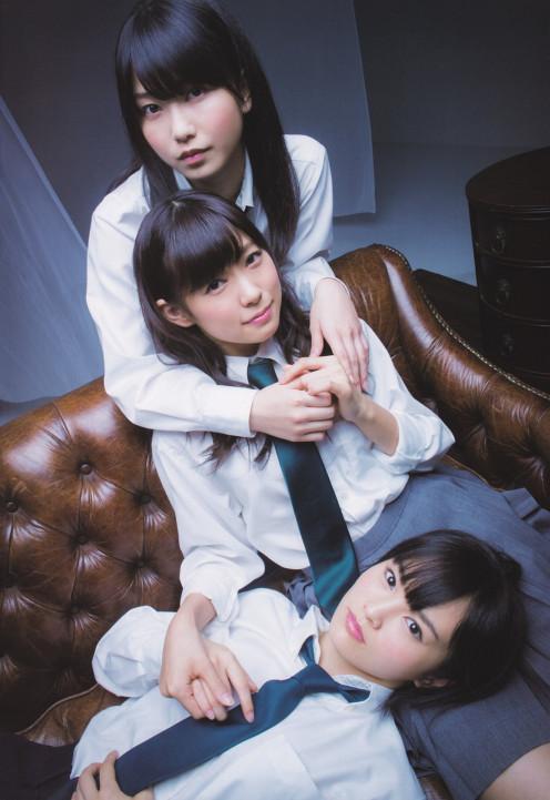 Yui Yokoyama (top) is with Miyuki Watanabe and Sayaka Yamamoto.