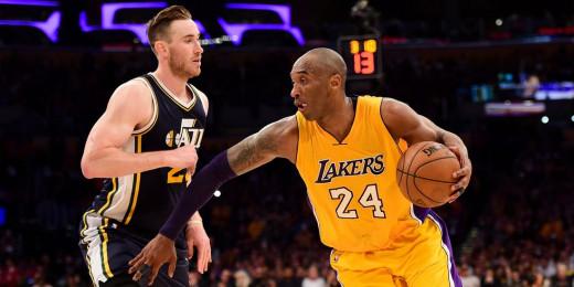 Kobe Bryant scores 60 points in his final NBA game vs Gordon Hayward and Utah Jazz.