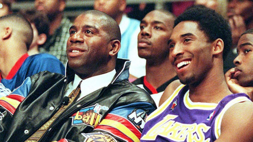 Magic and Kobe are arguably the best two Lakers of all time.