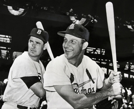 Ted Williams (Left) and Stan Musial (Right)