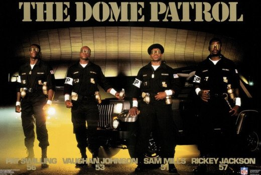 Jackson, Johnson, Mills, and Swilling Pictured outside of the Louisiana Super Dome.