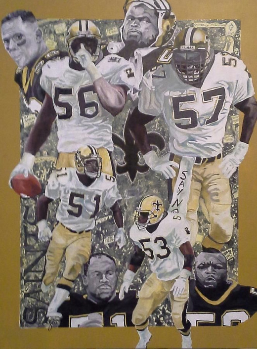 """Painting of the """"Dome Patrol."""""""