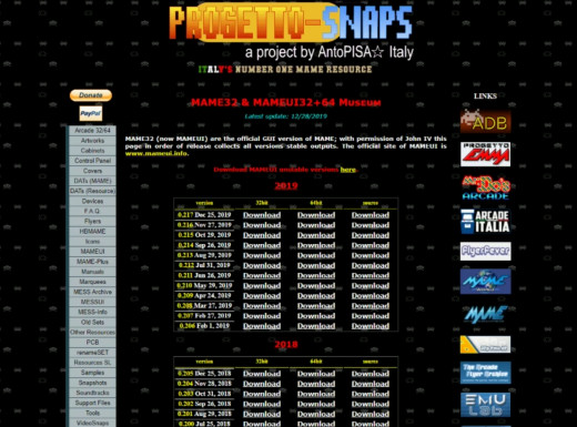 Progetto Snaps' download page