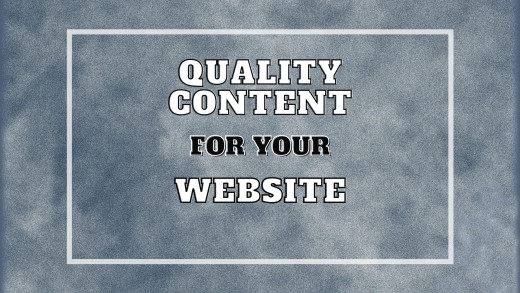 Importance of Quality Content for your Website