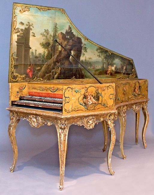 This harpsichord is a fine example of several art forms in one piece. Not only does it make music, but its various forms of decoration honored the abundance of creativity planted in human hearts.