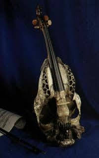 Man has always needed music, which is the expression of all of creation. This is a horse head (skull) fiddle from Moyse's Hall Museum, Bury St Edmunds.