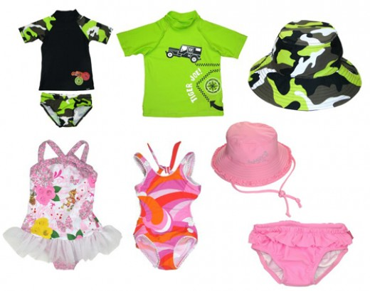 Baby swimwear comes in all styles, colors & designs!