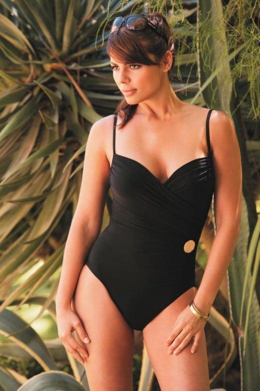 One piece swimwear can be elegant and beautiful.