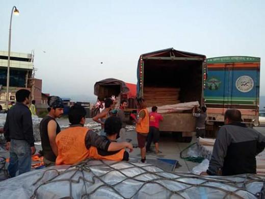 Helping in massive Earthquake happen in nepal